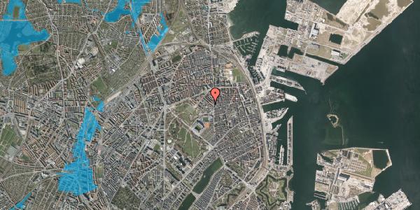 Oversvømmelsesrisiko fra vandløb på Marskensgade 5B, 2100 København Ø
