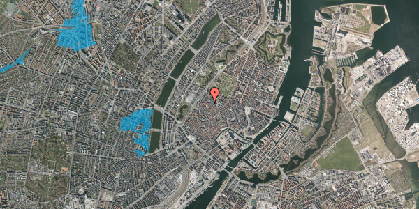 Oversvømmelsesrisiko fra vandløb på Købmagergade 65D, 2. , 1150 København K