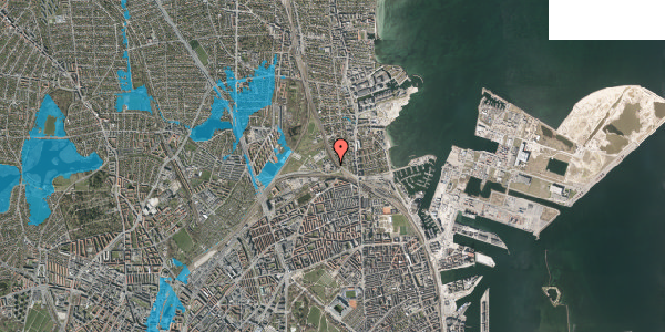 Oversvømmelsesrisiko fra vandløb på Svanemøllens Kaserne 14, st. , 2100 København Ø