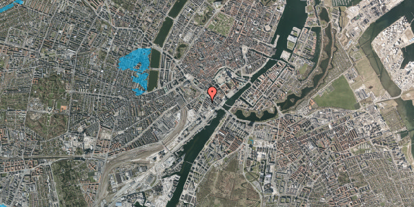 Oversvømmelsesrisiko fra vandløb på Anker Heegaards Gade 7A, 2. th, 1572 København V