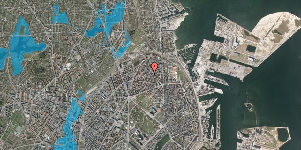 Oversvømmelsesrisiko fra vandløb på Masnedøgade 30, 2. th, 2100 København Ø
