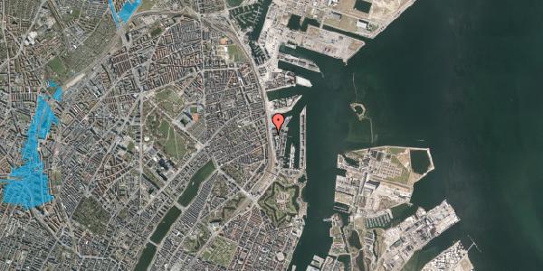 Oversvømmelsesrisiko fra vandløb på Kalkbrænderihavnsgade 4C, 2. th, 2100 København Ø
