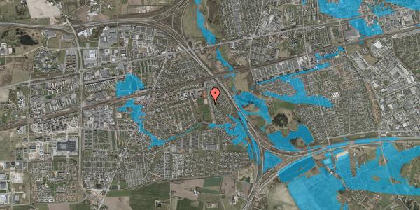 Oversvømmelsesrisiko fra vandløb på Kongsgården 56, 2630 Taastrup