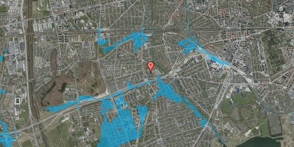Oversvømmelsesrisiko fra vandløb på Baunebakkevej 10, 2. th, 2650 Hvidovre