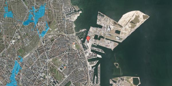 Oversvømmelsesrisiko fra vandløb på Sundkrogen 4, k2. , 2100 København Ø