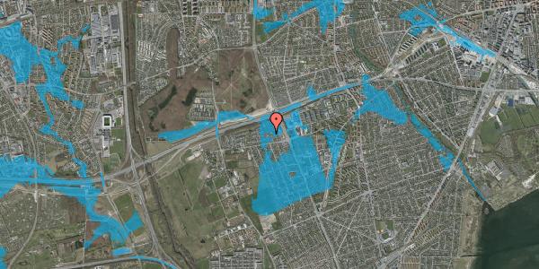 Oversvømmelsesrisiko fra vandløb på Hf. Kettehøj 56, 2650 Hvidovre
