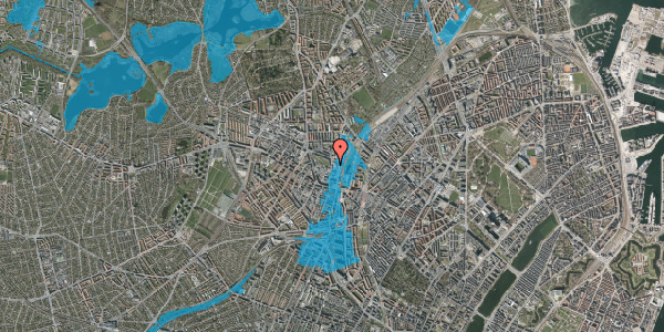 Oversvømmelsesrisiko fra vandløb på Rebslagervej 10, 1. 19, 2400 København NV