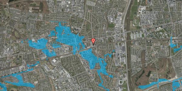 Oversvømmelsesrisiko fra vandløb på Glostrup Shoppingcenter 4, st. , 2600 Glostrup