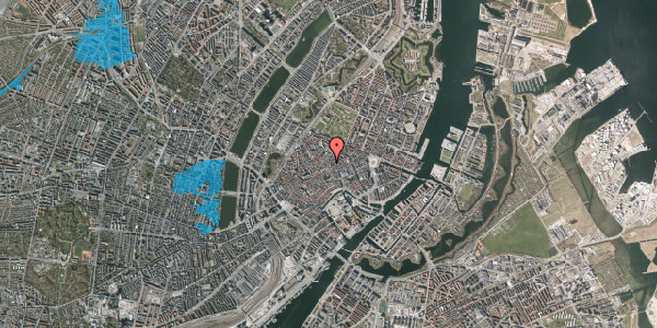 Oversvømmelsesrisiko fra vandløb på Løvstræde 2, 3. tv, 1152 København K