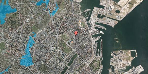 Oversvømmelsesrisiko fra vandløb på Gunnar Nu Hansens Plads 8, 2100 København Ø