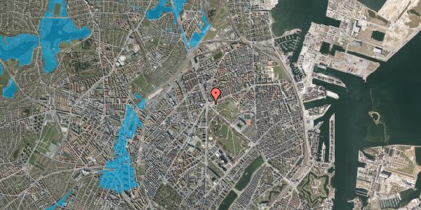 Oversvømmelsesrisiko fra vandløb på Jagtvej 180, 2100 København Ø