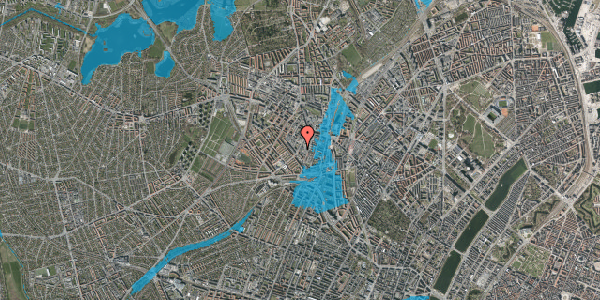 Oversvømmelsesrisiko fra vandløb på Vibevej 31A, 2400 København NV