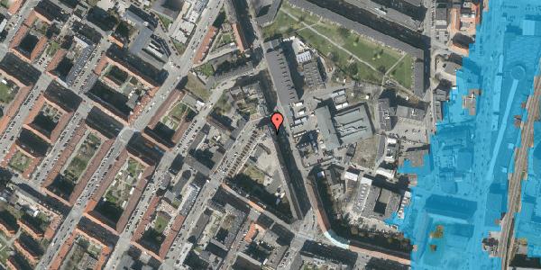 Oversvømmelsesrisiko fra vandløb på Frederiksborgvej 21, 1. th, 2400 København NV