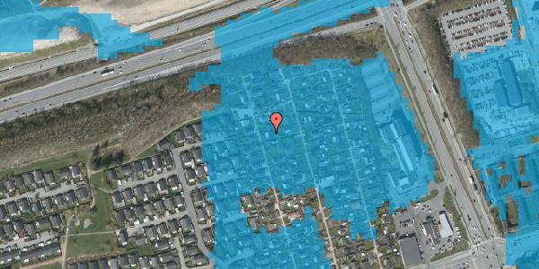 Oversvømmelsesrisiko fra vandløb på Hf. Kettehøj 18, 2650 Hvidovre
