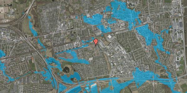 Oversvømmelsesrisiko fra vandløb på Kløvervænget 56, 2625 Vallensbæk