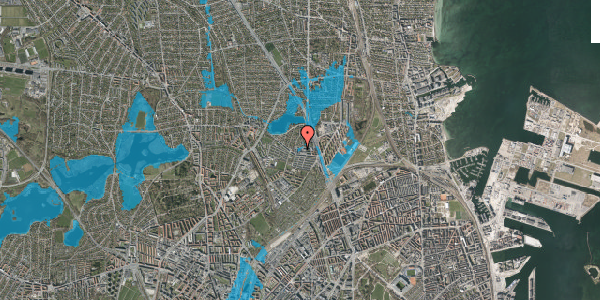 Oversvømmelsesrisiko fra vandløb på Emdrupvej 26B, 2100 København Ø