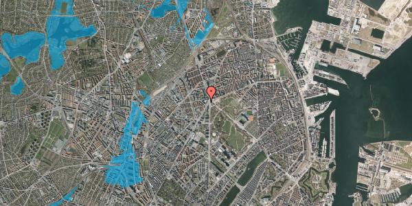 Oversvømmelsesrisiko fra vandløb på Jagtvej 169B, 1. th, 2100 København Ø