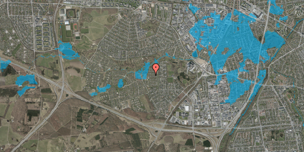 Oversvømmelsesrisiko fra vandløb på Vængedalen 520, 2600 Glostrup