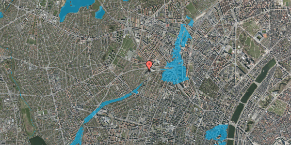 Oversvømmelsesrisiko fra vandløb på Jordbærvej 83, st. , 2400 København NV