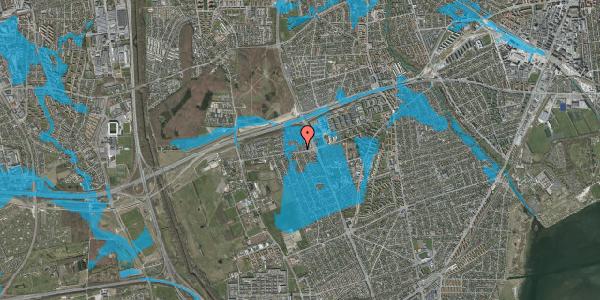 Oversvømmelsesrisiko fra vandløb på Kettevej 18, 2650 Hvidovre