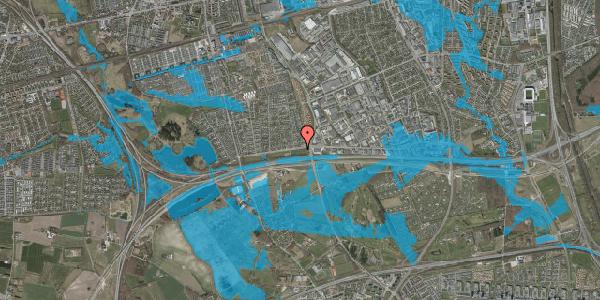 Oversvømmelsesrisiko fra vandløb på Vallensbækvej 73, 2625 Vallensbæk