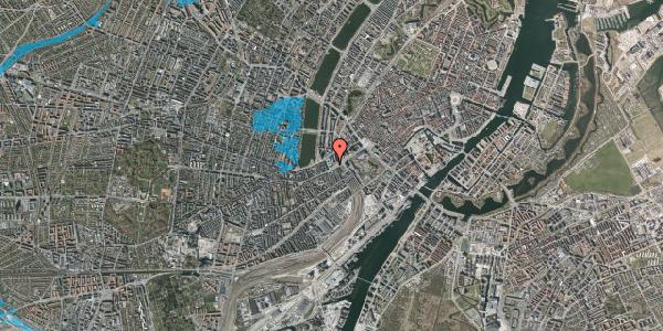 Oversvømmelsesrisiko fra vandløb på Meldahlsgade 1, 1613 København V