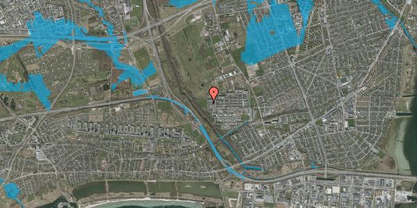 Oversvømmelsesrisiko fra vandløb på Bymuren 151A, 1. 3, 2650 Hvidovre
