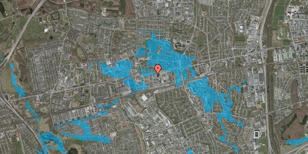 Oversvømmelsesrisiko fra vandløb på Hermods Allé 8, 2600 Glostrup
