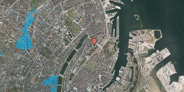 Oversvømmelsesrisiko fra vandløb på Hjalmar Brantings Plads 10, 2100 København Ø