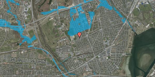 Oversvømmelsesrisiko fra vandløb på Hf. Dahlia 105, 2650 Hvidovre
