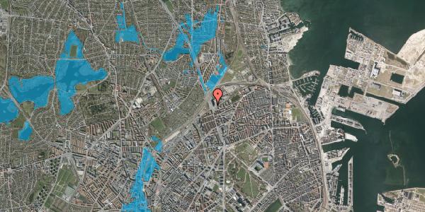 Oversvømmelsesrisiko fra vandløb på Hans Knudsens Plads 1B, 2100 København Ø