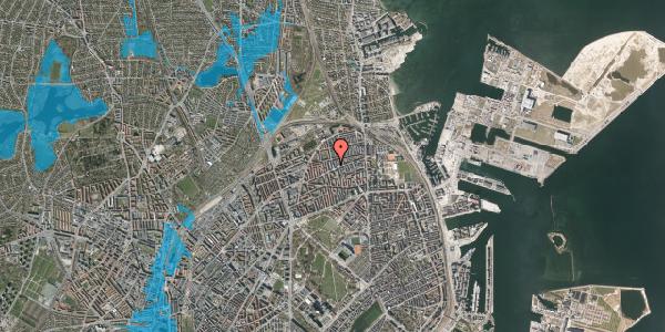 Oversvømmelsesrisiko fra vandløb på Drejøgade 38, 1. th, 2100 København Ø