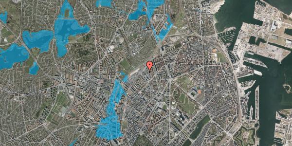 Oversvømmelsesrisiko fra vandløb på Emblasgade 157, 1. tv, 2100 København Ø