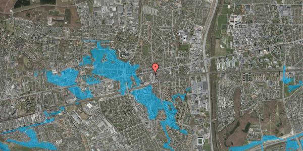 Oversvømmelsesrisiko fra vandløb på Glostrup Shoppingcenter 61, st. , 2600 Glostrup