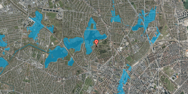 Oversvømmelsesrisiko fra vandløb på Støvnæs Allé 44, 2400 København NV