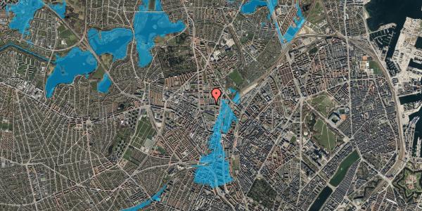 Oversvømmelsesrisiko fra vandløb på Bygmestervej 21C, 1. tv, 2400 København NV