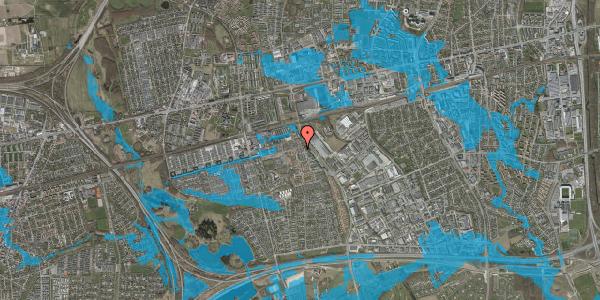Oversvømmelsesrisiko fra vandløb på Skovkløvervænget 15, 2625 Vallensbæk