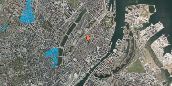 Oversvømmelsesrisiko fra vandløb på Åbenrå 8, 1124 København K