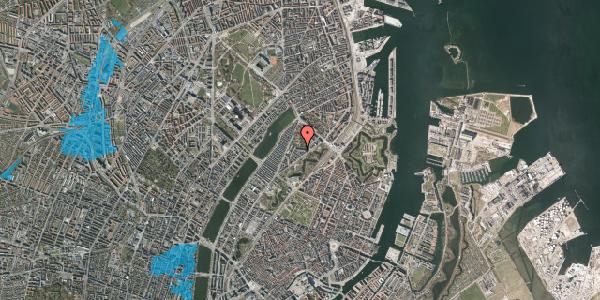 Oversvømmelsesrisiko fra vandløb på Upsalagade 20B, 3. tv, 2100 København Ø