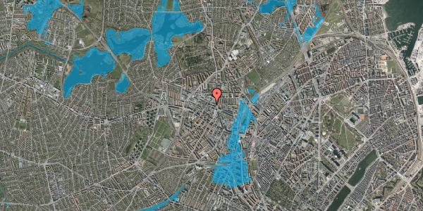 Oversvømmelsesrisiko fra vandløb på Rentemestervej 40B, 4. 1, 2400 København NV