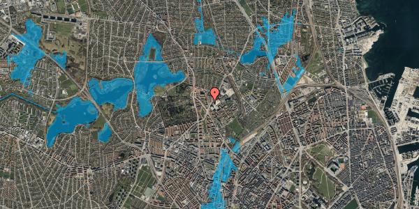 Oversvømmelsesrisiko fra vandløb på Peter Rørdams Vej 2C, 2400 København NV