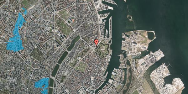 Oversvømmelsesrisiko fra vandløb på Oslo Plads 2C, 3. , 2100 København Ø