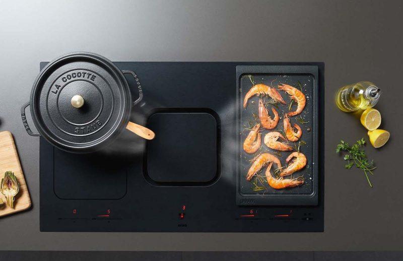 Kookplaat met afzuiging recirculatie