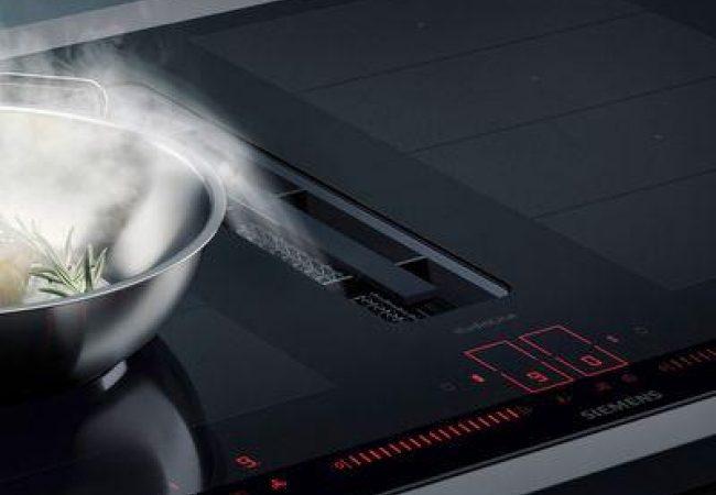 Inductie kookplaat met afzuiger