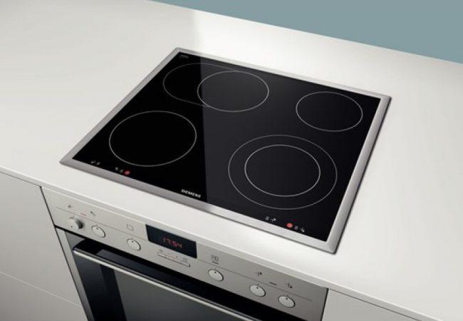 Keramische kookplaat met oven