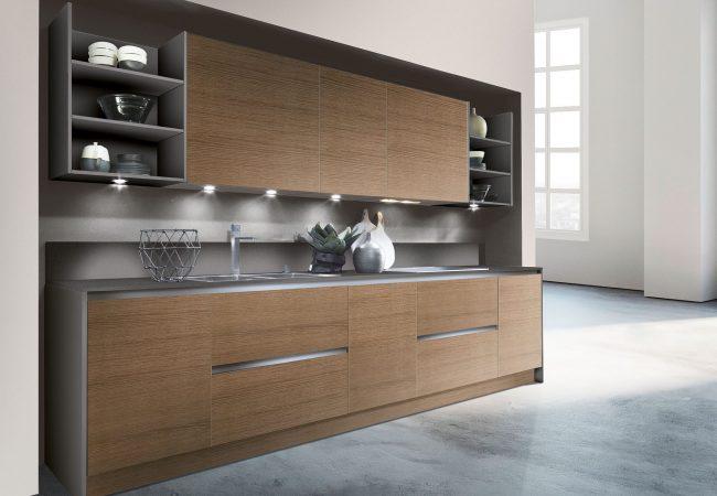 Bruine sfeervolle keuken