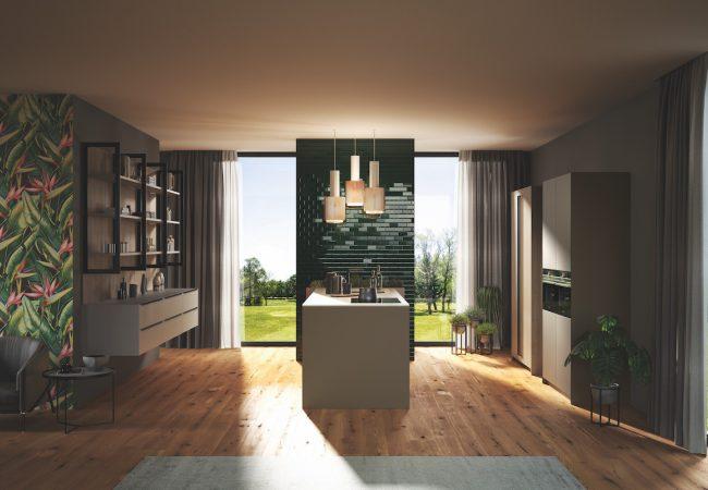 Parallel keuken met raam