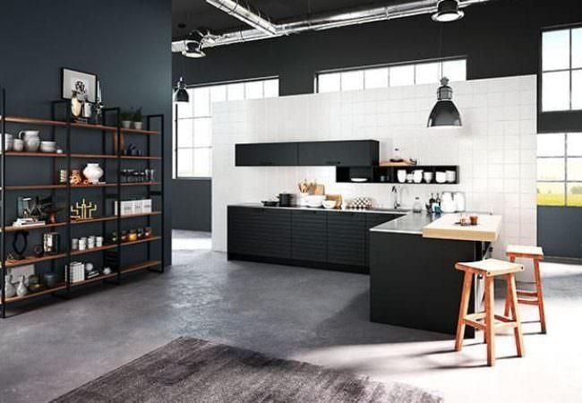 Zwarte hoekkeuken - Van Geloof Keukens
