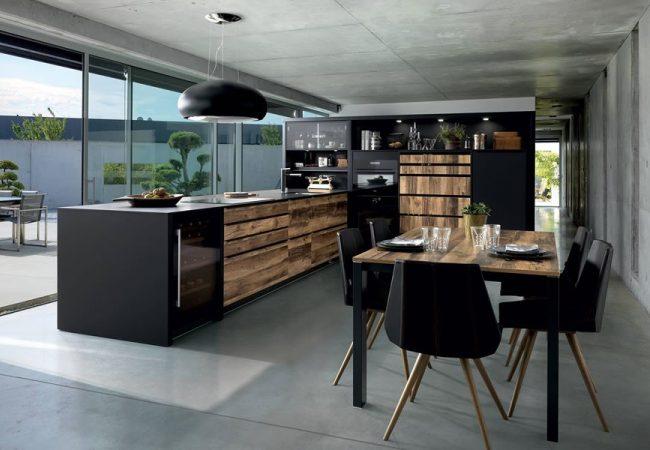 Keukeneiland zwart