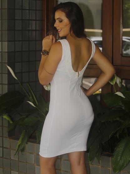 vestido branco que não seja transparente